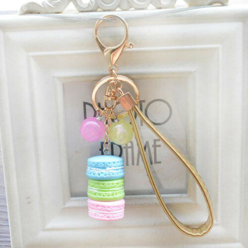 New Cake Shape Tassel Key Chain Car Keychain Bag Charm Accessories Jewelry WE