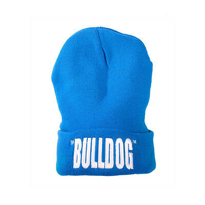 Cordiale ★cappello The Bulldog Lana Taglia Unica Con Scritta Blu Hat Berretto Bulcap008★
