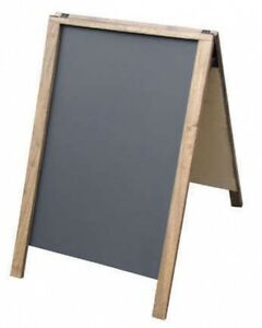 economy 22 x 28 a frame sidewalk with chalkboard panels menu sign ebay. Black Bedroom Furniture Sets. Home Design Ideas