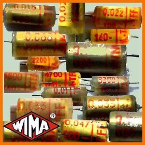 axial 400 V 150 pF Vintage Tone Capacitor 10x Wima TFF Kondensator