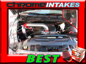 02-10 DODGE RAM 1500 2500 3500 3.7L 4.7L 5.7L COLD AIR INTAKE+K/&N Blue Red