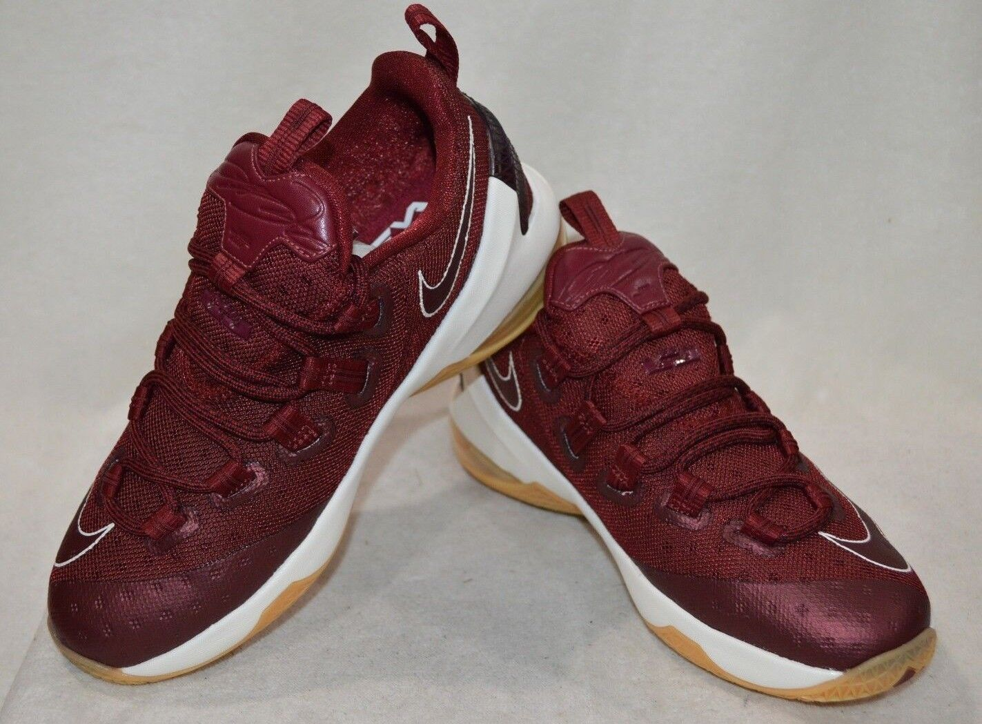 549bc0085b40 Nike Lebron XIII Low GS Sz 5y Team Red Sail Gum Youth 834347 600