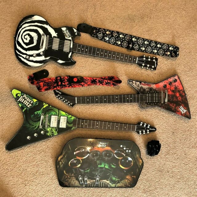 2 Style 1 Paper Jamz Guitar Strap Red /& Black Series