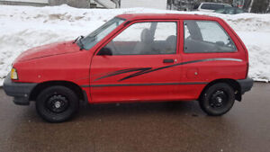 1993 festiva 5 speed rust free  forsale or trade 4000$