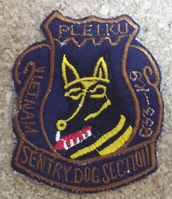 Lovely Patch/patch Pleiku Sentry Dog Section Complete In Specifications Usaf Vietnam 633rd K9
