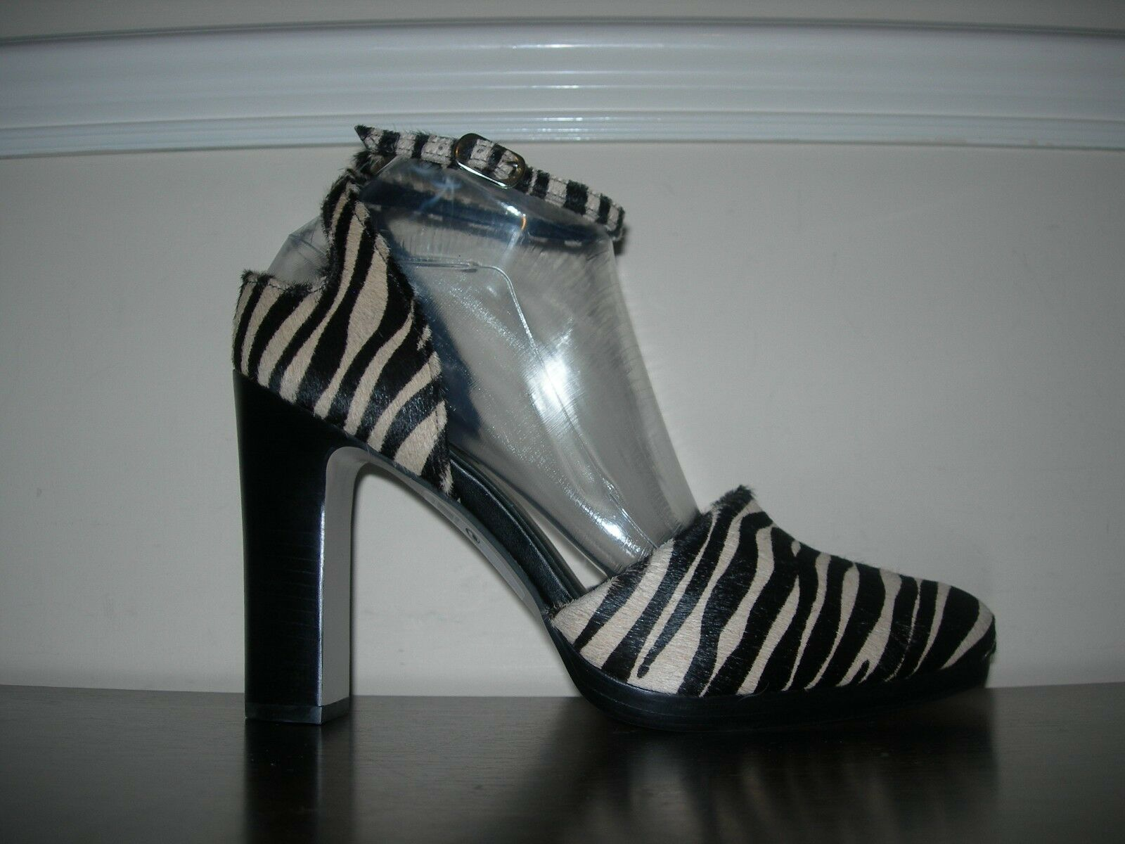 NEXT SIGNATURE damen schuhe schuhe schuhe SANDALS HEELS ANIMAL PRINT PONY HAIR EU 42   UK 8 43bd0b