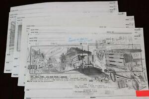 Animation Storyboard Lot 15 Drawings 2001 Roy Wilson Walt Disney Studio Artist