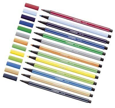 Stabilo Pen 68 Premium Filzstifte Fasermaler Einzelstifte 40 Farben wählbar