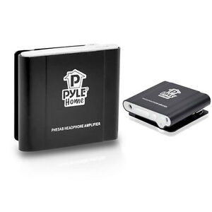 New Pyle PHE5AB Bass Boosting Portable Audio Stereo Headphone Amplifier (Black)