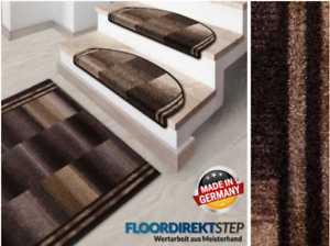 Stufenmatte IkariaBRAUNHalbrund oder Eckig Treppenmatten Stufenteppich