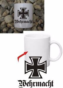 Accessoires & Fanartikel Ehrlichkeit Wehrmacht Eisernes Kreuz Ek Tasse Coffee Mug Iron Cross Wh Wwii Wk2 Kaffeetasse SchöNe Lustre