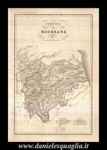 Cartina Stradale Civitanova Marche.Macerata Marche Carta Geografica Vallardi 1868 Ebay