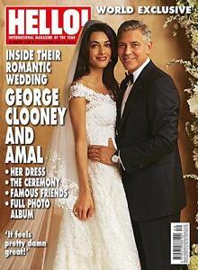 Image Is Loading Hello Magazine 1348 George Clooney Wedding Kylie Minogue