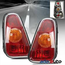 2002 2003 2004 Mini Cooper Hatchback [Red Clear] Tail Lights Left Right Pair