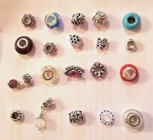 Authentic Pandora Charms 10 Assorted Crystal Rhinestone Bead Charm Spacers new!