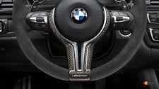 BMW OEM F87 F80 F83 F10 F12 F06 M PERFORMANCE STEERING WHEEL CARBON TRIM COVER