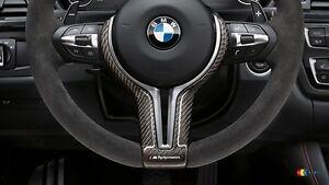 BMW-OEM-F87-F80-F83-F10-F12-F06-M-PERFORMANCE-STEERING-WHEEL-CARBON-TRIM-COVER