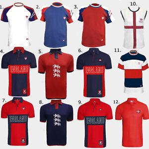 ENGLAND FLAG EMBLEM FOOTBALL PRINTED DESIGN COOL SPORTS BREATHABLE TSHIRT