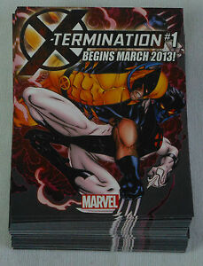 Dealer-039-s-Lot-of-98-comic-promo-cards-2013-Marvel-X-TERMINATION-X-MEN