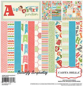 Little Kids Alphabet Junction 12X12 Scrapbooking Kit Carta Bella Paper Co. NEW