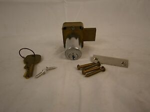 National Cabinet Lock C8125 4 Pin Tumbler Brass Cylinder