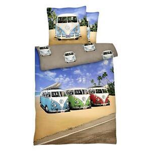 renforc bettw sche 135 x 200 80x80 cm bulli vw bus transporter t1 ebay. Black Bedroom Furniture Sets. Home Design Ideas