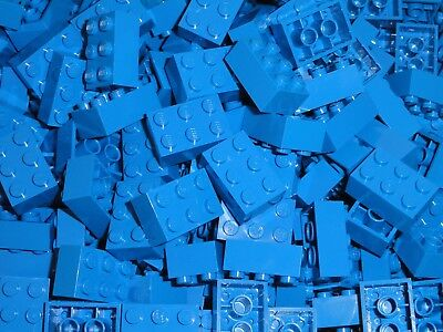 LOT OF 100 BLUE BRAND NEW FREE SHIPPING! LEGO 2X3 BRICKS
