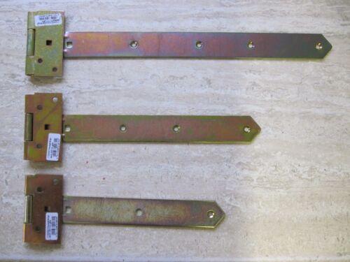 Türbänder Laden Torband Kreuzgehänge Scharnier 400 mm schwer  gelb verzinkt