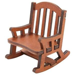 Doll-House-Miniature-Furniture-Classic-coffee-Wooden-Rocking-Chair-1-12-Scale-GD