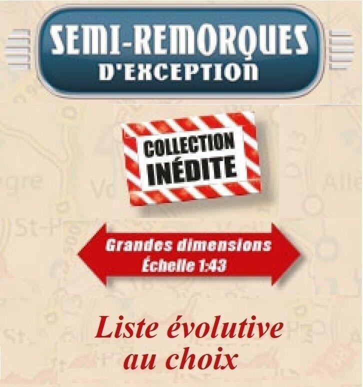 ALTAYA Semi remorques d'exception 1 43 ème (au choix)