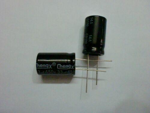 33uF 450V 16X25 100 PCS Aluminum Electrolytic Capacitors