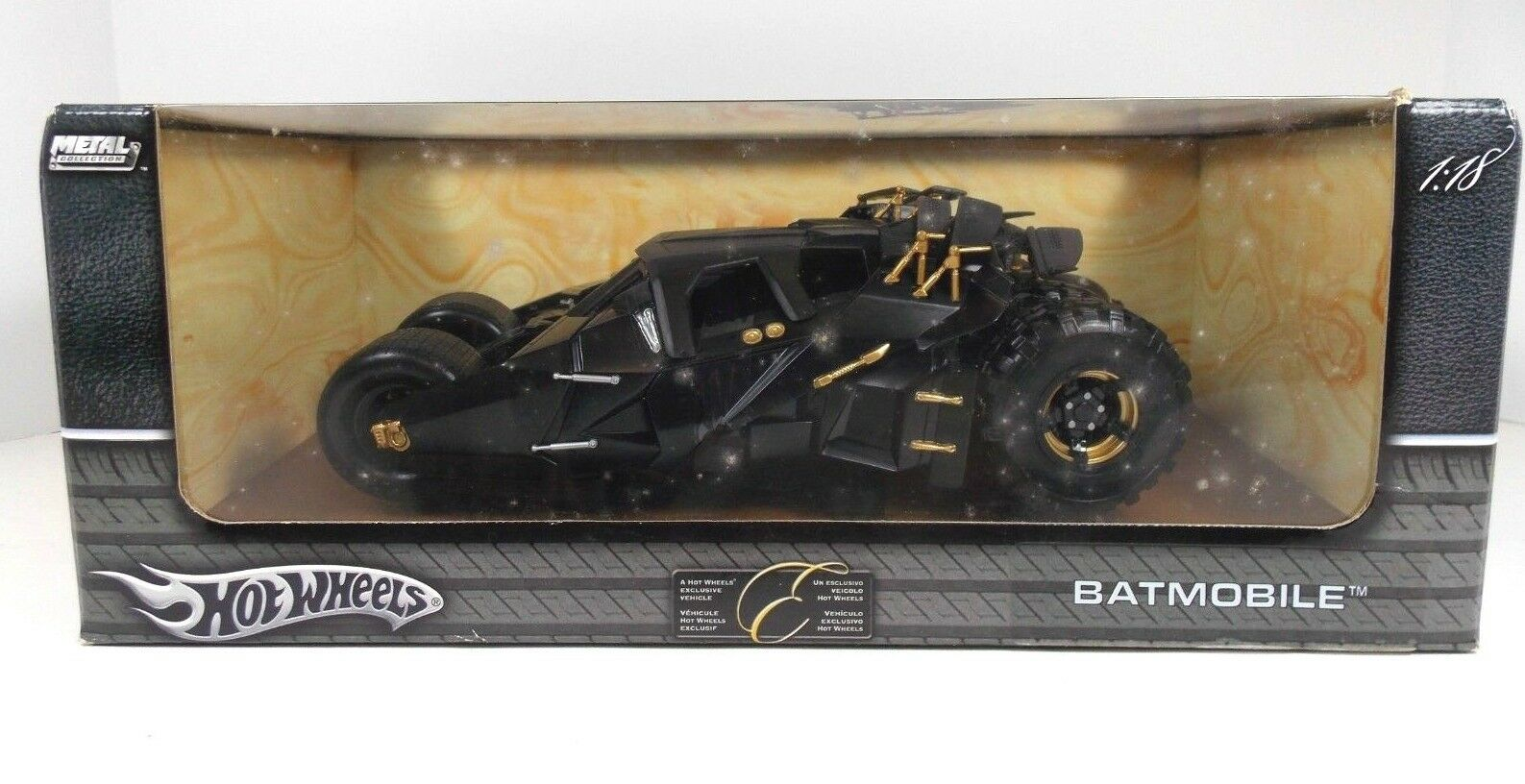 Hot Wheels Elite BATIMÓVIL Película Batman Inicia SEALED escala 1 8