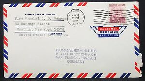 Frederick-Douglass-Stamp-25c-on-US-Airmail-Cover-Hamburg-Ny-USA-Lupo-Brief-Y-30