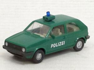 VW-Golf-II-coupe-034-policia-034-en-verde-Wiking-1-87-sin-OVP