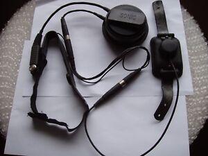 Vintage-RAF-Head-Set-Micro-Phone-RAF-LEEMING-Tornado-Jet-With-Equipment-Form-731