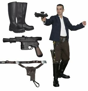 Star-Wars-Han-Solo-Costume-Bundle-Belt-Boots-Empire-Film-Set-Quality-from-UK
