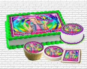 Image Is Loading Jojo Siwa Edible Birthday Cake Topper Paper Sugar