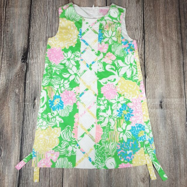 LILLY PULITZER GIRLS MINI MILA SHIFT DRESS Multi Hot On The Scene Sz 12