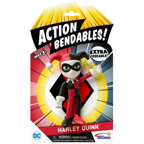 * NJ CROCE Action Bendables Harley Quinn 4 in pliable Figure * environ 10.16 cm