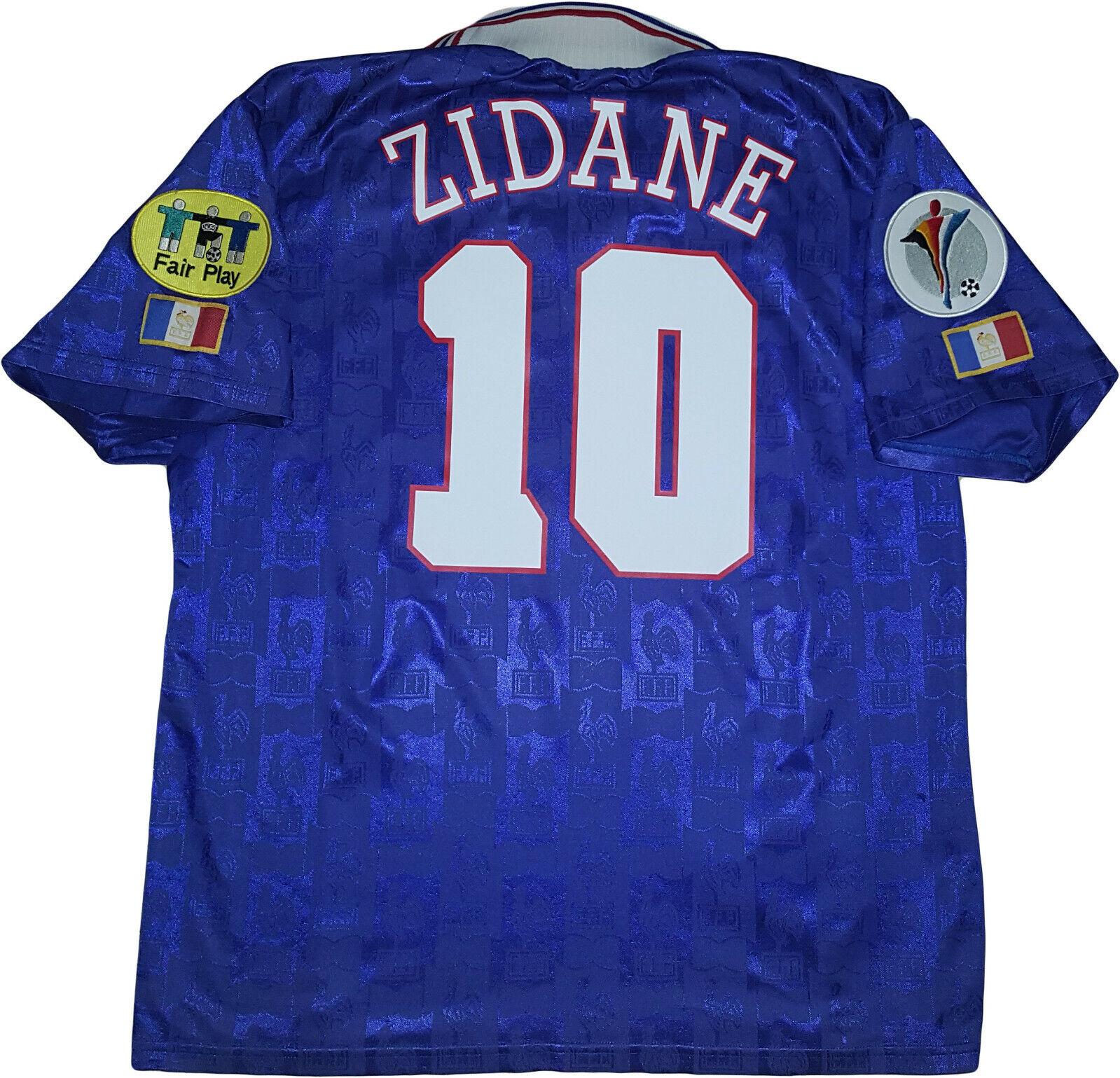 Maglia Francia Zidane 1996 Euro germany Vintage Adidas shirt Jersey home