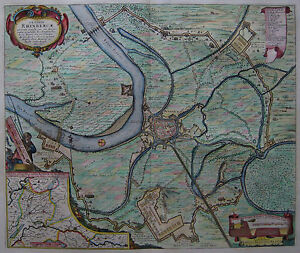 Rheinberg-obsidio Rhinbergcae-willem Janszoon Blaeu-original 1649-afficher Le Titre D'origine 5yh3sfgk-10110624-788198148