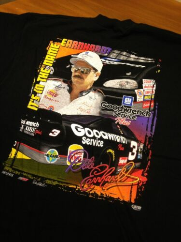 Dale EARNHARDT Goodwrench Racing Black T Shirt Chase Xl Mens Euc