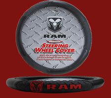 Dodge Ram Diamond Grip Black Steering Wheel Cover