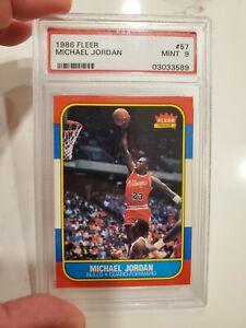 1986-87 Fleer Basketball Michael Jordan MJ Rookie RC PSA 9 Mint BGS High End