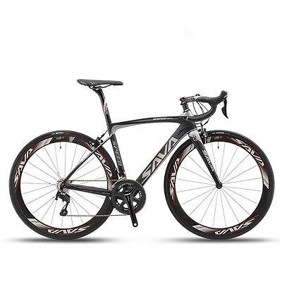 SAVA HERD 5.0 700C Road Bike 2x11 Speed Carbon Fiber Bicycle Shimano 5800 Black