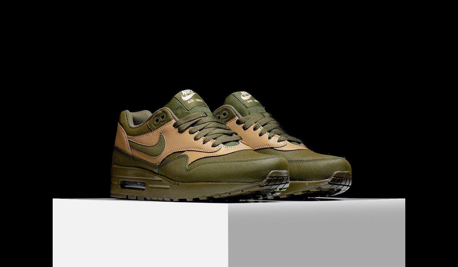 Nike air max max max 1 leder premium dark loden htm oberste 705282 300 männer sz 10,5 9f280b