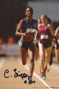 Atletica leggera: CHARLENE operazioni firmata 6x4 FOTO D'AZIONE + COA * USA *