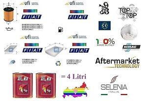 Kit Tagliando UFI Fiat Punto EVO 1.4 16v 77-99 Kw + 4 Litri Olio Selenia 5W40