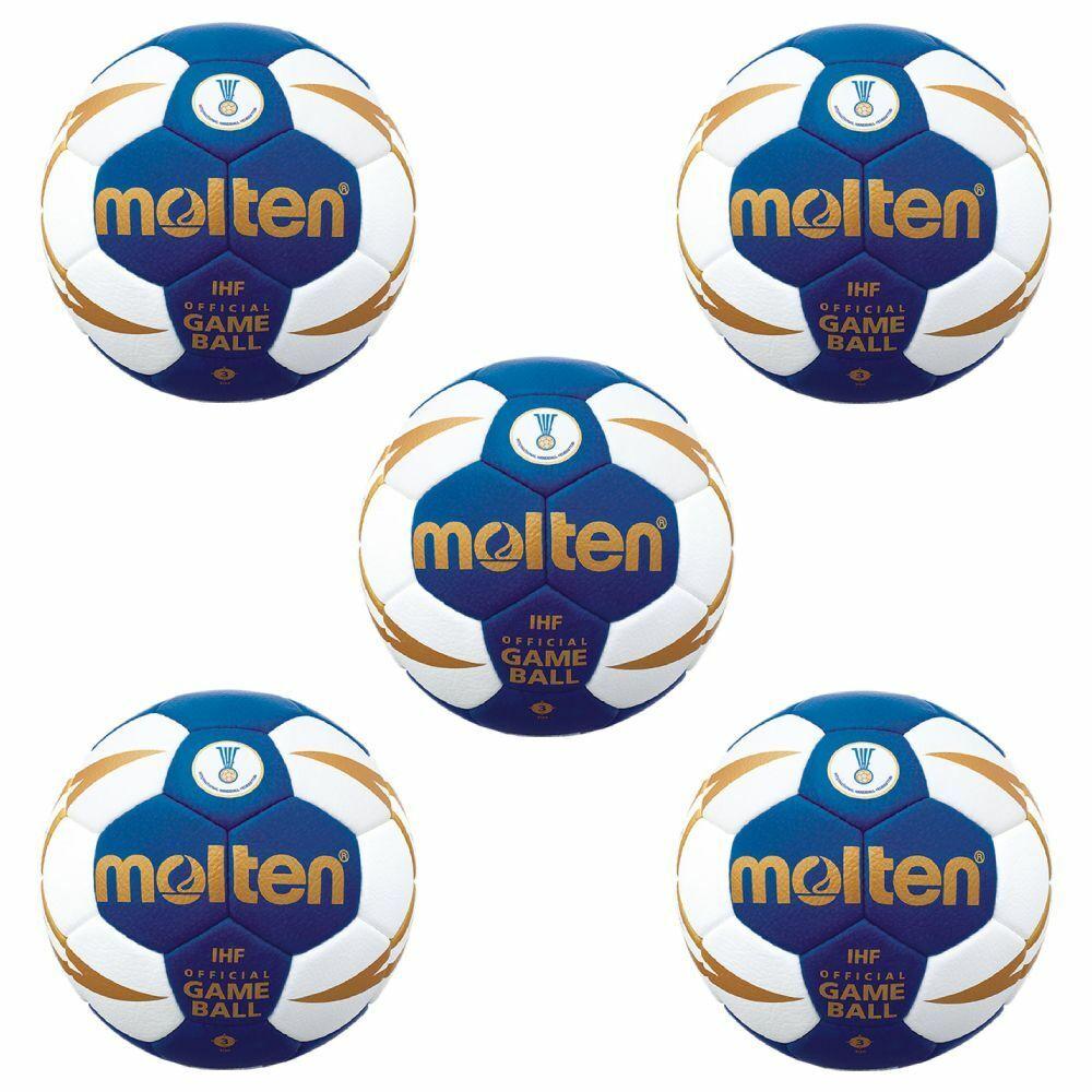 Molten Handball H3X5001-BW IHF Spielball Wettspielball 5er Paket blau weiß Gr 3     | Ästhetisches Aussehen  | Verschiedene Arten Und Die Styles  | Good Design