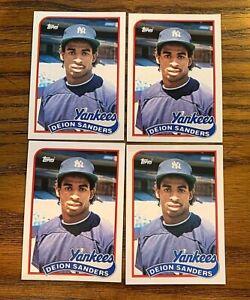 1989 Topps Traded #110T Deion Sanders RC - Yankees (4)